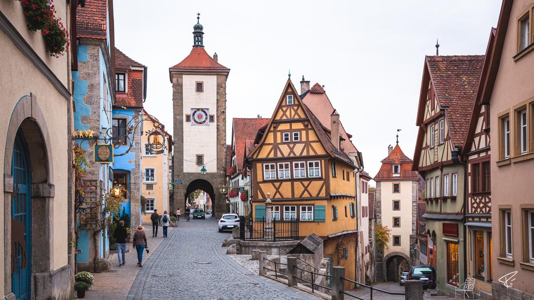 Rothenburg ob der Tauber Bayern Plönlein