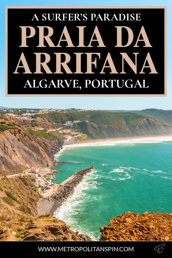 Praia da Arrifana Portugal Pinterest Cover